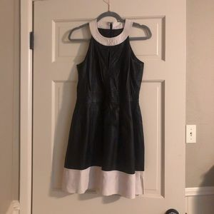 French Connection leather dress.